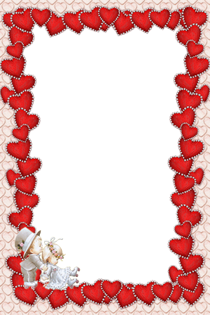 Photo frame - Red hearts frame