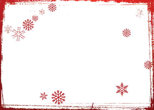 Photo frame - Red snowflakes