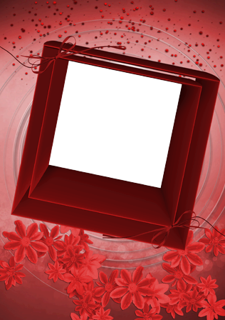 Photo frame - Red square