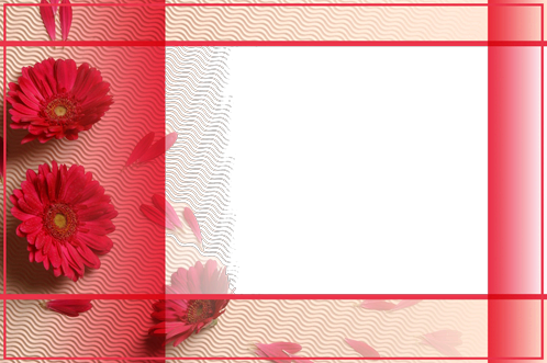 Photo frame - Red waves