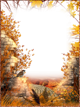 Photo frame - Road to autumn