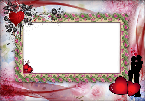 Photo frame - Romantic hearts