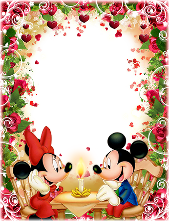 Marco de fotos - Romantic dinner of Mickey and Minnie Mouse