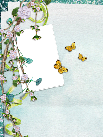 Photo frame - Sakura and butterflies