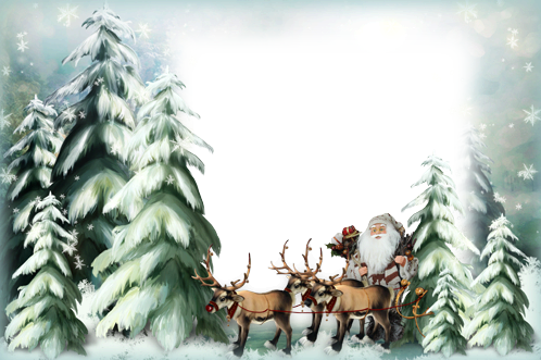 Photo frame - Santa on the way
