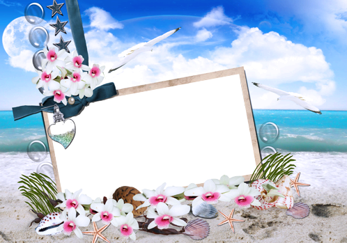 Photo frame - Sea flowers