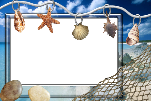 Photo frame - Beatiful sea shells