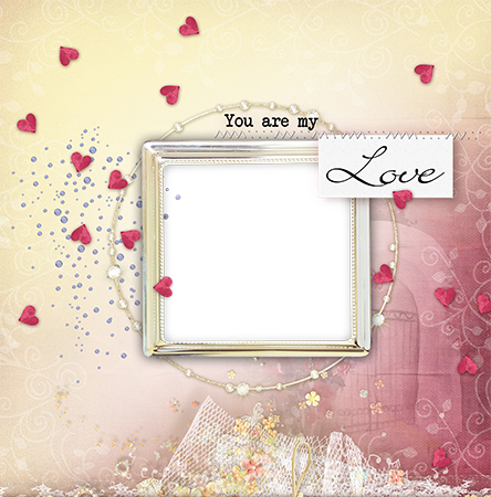 Photo frame - Small hearts around you