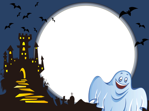 Photo frame - Smiling Halloween ghost