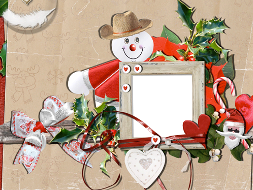 Photo frame - Application about snowman