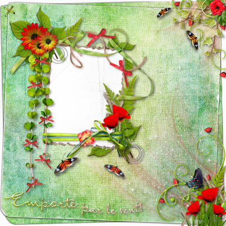 Photo frame - Spring spirit scrap page