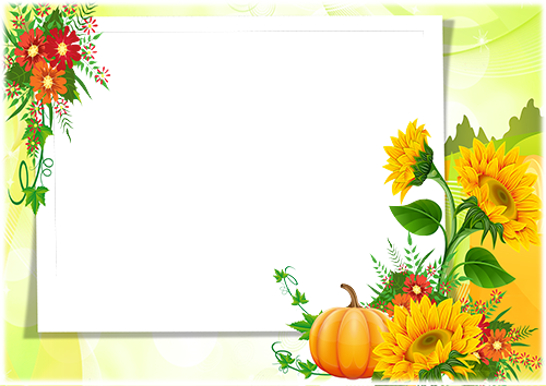 Photo frame - Sunflowers and pumpkin