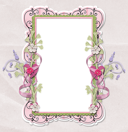 Molduras para fotos - Tenderly decorated frame