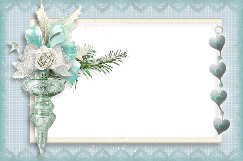 Photo frame - Turquoise winter