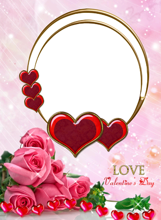 Photo frame - Valentine's day. Love roses