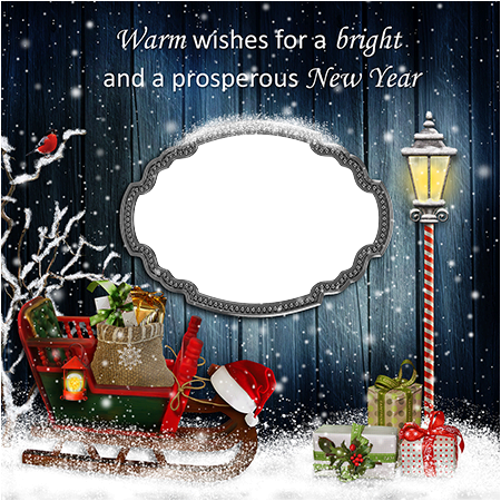 Photo frame - Warm wishes for a New Year