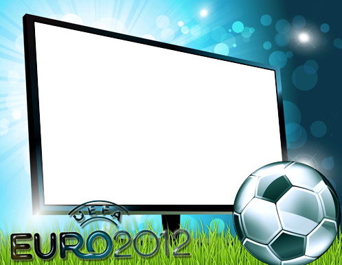 Photo frame - Watching euro 2012