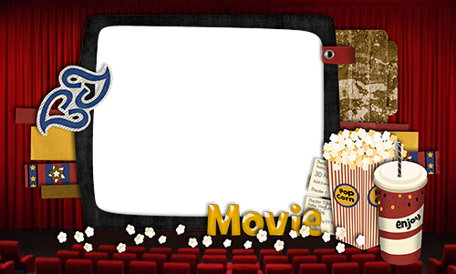Photo frame - Watch movie with a friend