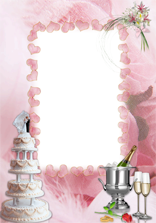 Photo frame - Wedding cake