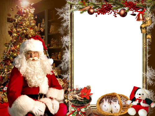 Photo frame - Welcome Santa