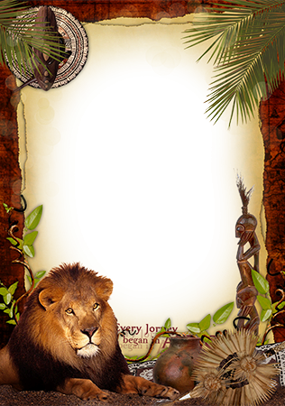 Photo frame - Welcome to Africa