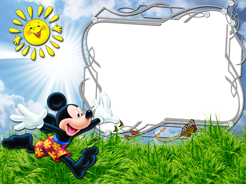 Photo frame - What a sunny day with Mickey Mouse