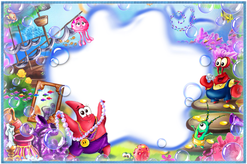 Photo frame - Who lives under the sea
