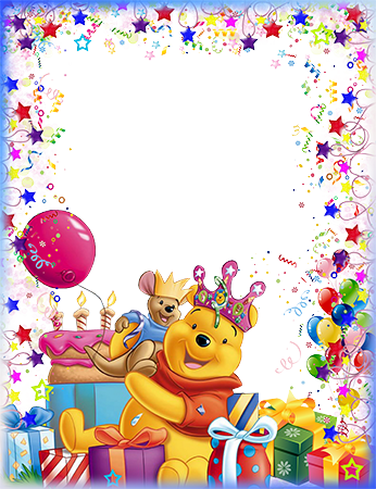 Marco de fotos - Winnie the Pooh wishes a Happy Birthday