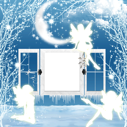 Photo frame - Winter fairies