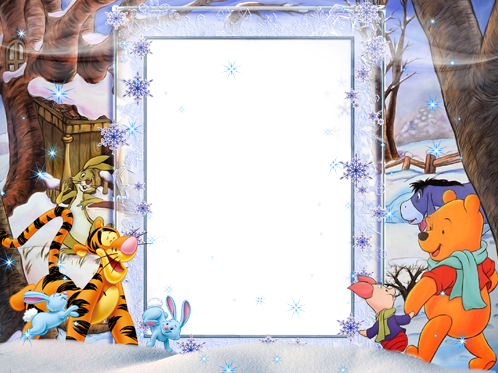 Photo frame - Winter fun with Vinnie