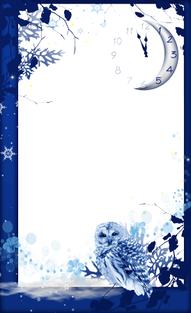 Photo frame - Winter midnight