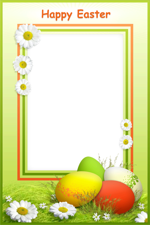 Photo frame - Wish you happy Easter