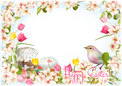 Photo frame - Wishing you an Easter that is bright and happy