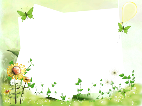 Photo frame - With green butterflies