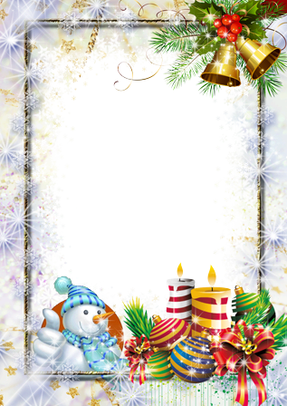 Photo frame - With best wishes before the holidays