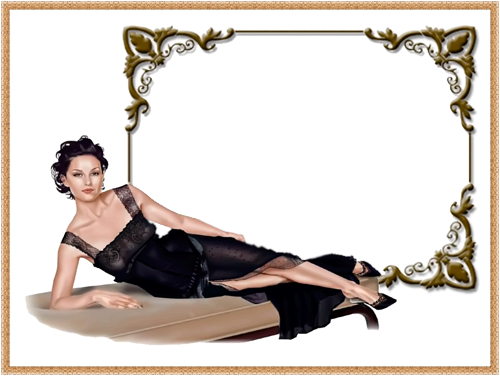 Photo frame - Woman in black