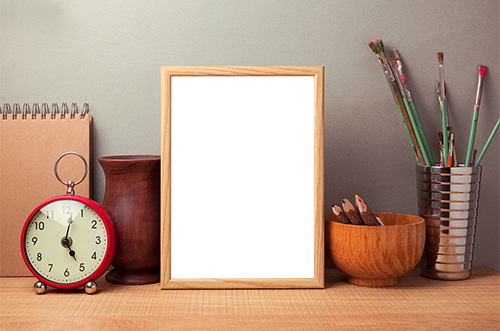 Photo frame - Wooden photo frame on the table
