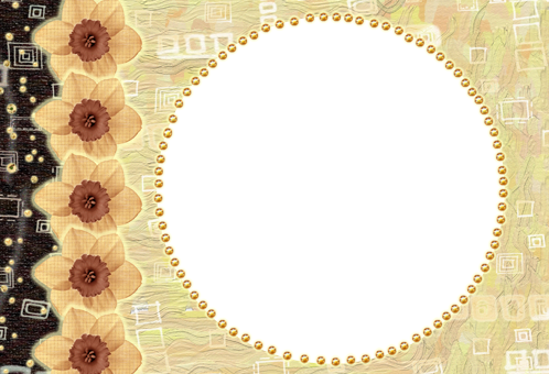 Photo frame - Yellow circle