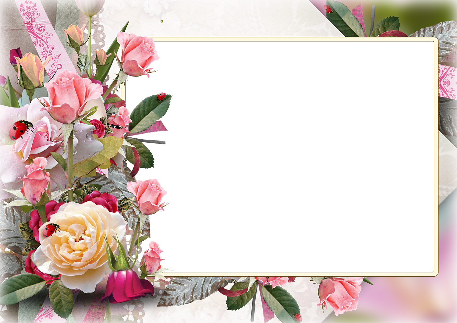 Flowers Photo Frames | LoonaPix - Roses, Tulips, Poppies! (60+ frames)