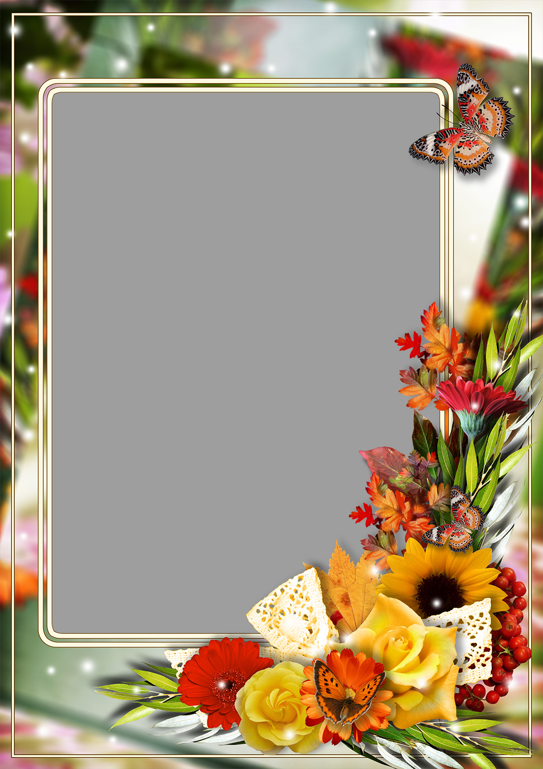 Flowers Photo Frames   LoonaPix - Roses, Tulips, Poppies
