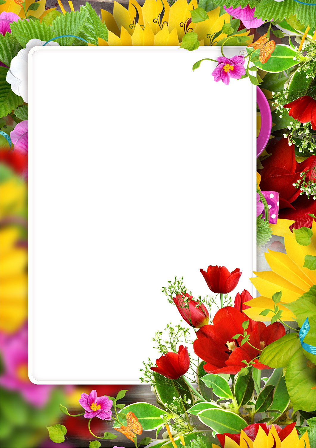 Flowers Photo Frames Loonapix Roses Tulips Poppies 60 Frames