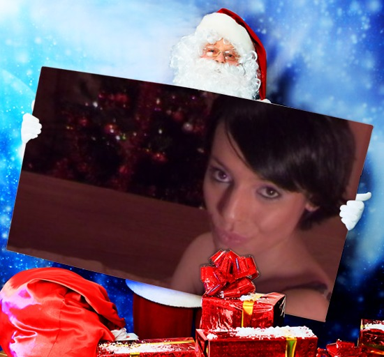 Photo Effects. Santa Presents